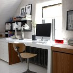 illustration bureau sous comble