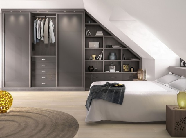 penderie sous comble mes combles. Black Bedroom Furniture Sets. Home Design Ideas