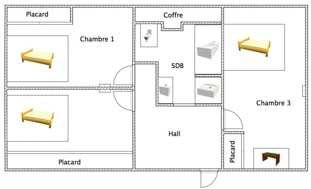 illustration plan amenagement combles