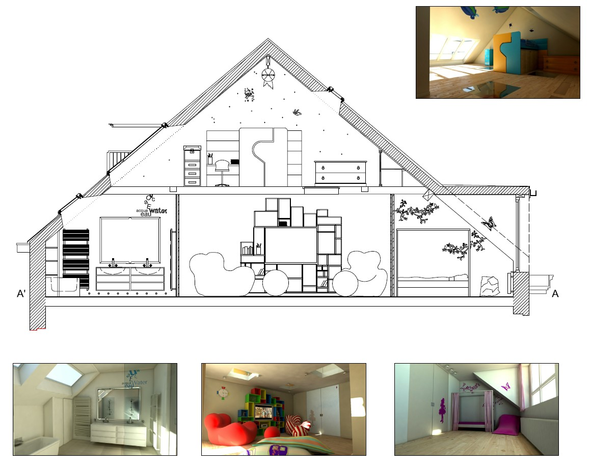 Plan amenagement combles mes combles for Amenagement comble
